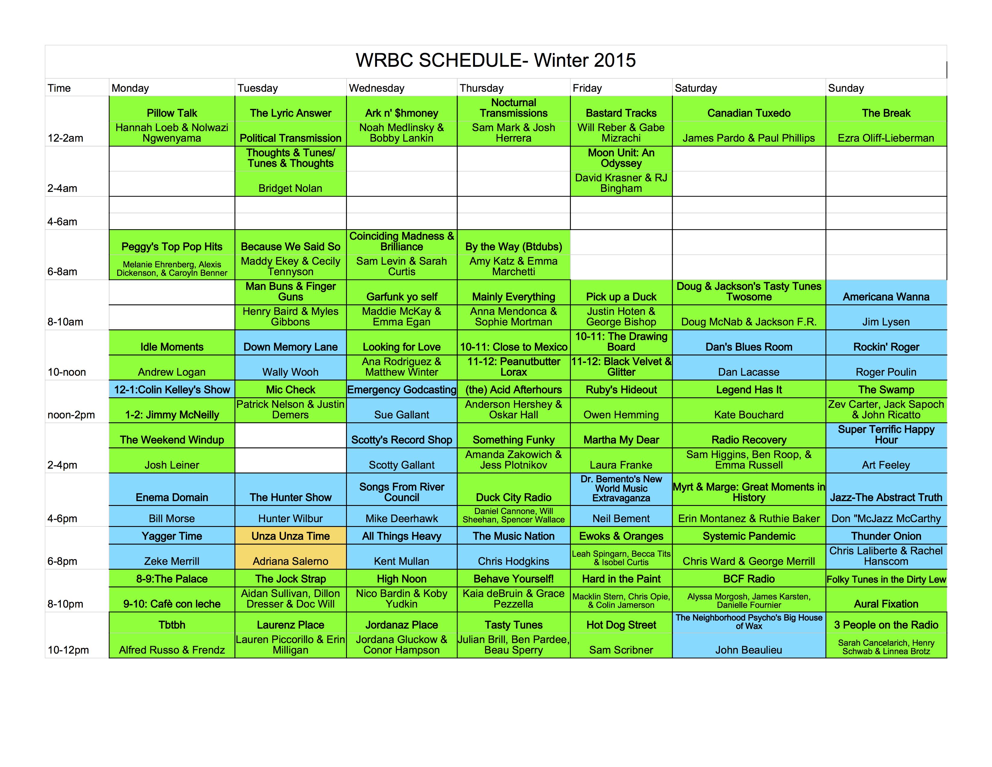 WRBC schedule 2015 img